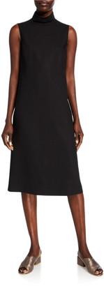 Lafayette 148 New York Teresa Mock-Neck Sleeveless Italian Double-Face Dress