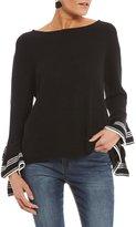 So It Is Double Ruffle Bell Sleeve Sweater