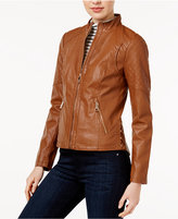 GUESS Faux-Leather Corset Jacket