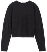 Dion Lee Cutout Boiled Wool Sweater - Midnight blue