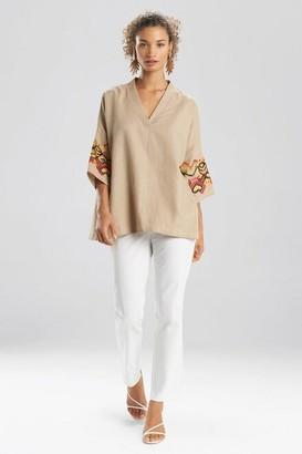 Natori Solid Linen Kimono