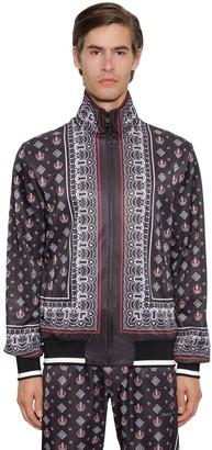 Dolce & Gabbana BANDANA PRINT TRIACETATE TRACK JACKET