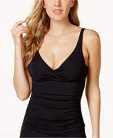 Anne Cole Ruched Bra-Sized Tankini Top