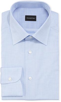 Ermenegildo Zegna Men's Gingham Check Dress Shirt