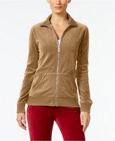 MICHAEL Michael Kors Velour Zip-Up Jacket