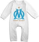 Ellem Cute Olympique De Marseille Romper For Infant Size 6 M