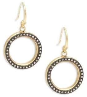 Armenta Old World White Diamond & 18K Goldplated Sterling Silver Drop Earrings