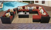 Tegan 12 Piece Sectional Seating Group with Cushions Sol 72 Outdoor Cushion Color: Terracotta