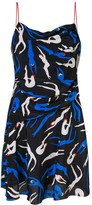 Diane von Furstenberg silhouette print flared dress