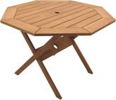 International Home Miami Amazonia Eucalyptus Patio Octagonal Folding Table