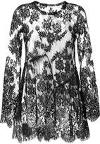 P.A.R.O.S.H. semi sheer overlay blouse