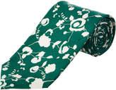 Cole Haan Green Floral Silk-Blend Tie