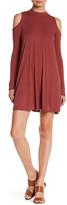 Soprano Long Sleeve Cold Shoulder Shift Dress