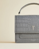Ted Baker Leather Croc Print Bag