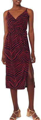 Oasis Tiger Cami Wrap Dress