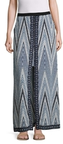 BCBGMAXAZRIA Print Blocked Maxi Skirt