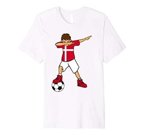 82e50a27fc013 Dabbing Soccer Boy T Shirt Denmark Dane Football