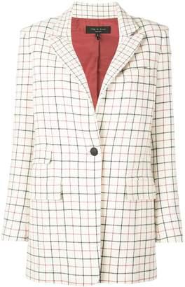Rag & Bone relaxed-fit check blazer