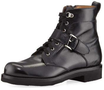 Gravati Textured Leather Hiking Boot