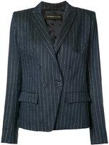 Alexandre Vauthier pinstripe blazer - women - Linen/Flax/Lurex/Viscose - 38