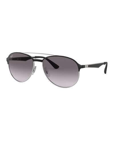 2fdeb9ecb Mens Aviator Gradient Sunglasses - ShopStyle