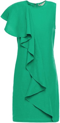 Vanessa Bruno Lizie Ruffled Crepe Mini Dress