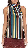 Soulmates Vertical-Striped High-Neck Tank Top
