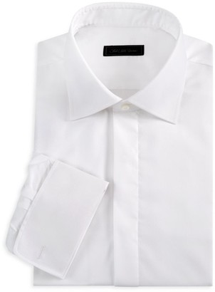 Saks Fifth Avenue Tonal Dot Tuxedo Shirt