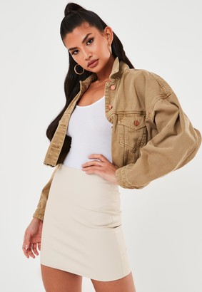 Missguided Stone Mock Croc Faux Leather Mini Skirt