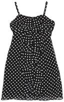 Us Angels Getaway Glam Printed Chiffon Dots Dress (Big Kids) (Dots) - Apparel