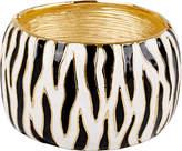Kenneth Jay Lane Gold-Plated Zebra Enamel Cuff