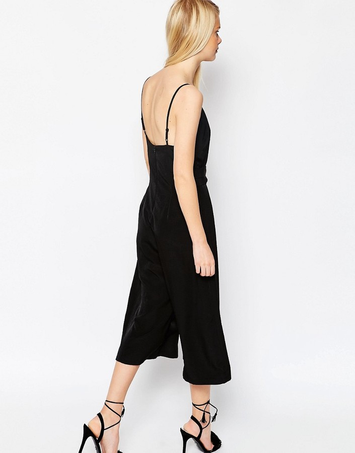Asos Jumpsuit with Cami Straps and Culotte Leg