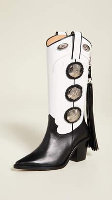 Toga Pulla Tall Fringe Boots