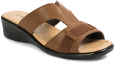 Pierre Dumas Brown Show Wedge Sandal