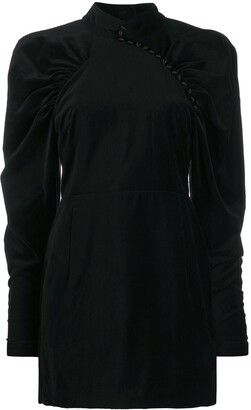 Rotate by Birger Christensen Puff Sleeve Velvet Dress