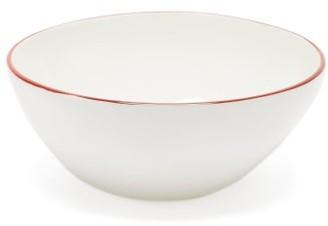 Feldspar - Painted-rim Fine China Ice Cream Bowl - Red White
