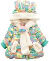 Happy Cherry Kids Girls Warm Coat Hooded Outerwear Jacket Size 5