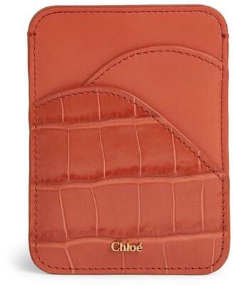 Chloé Croc-Embossed Walden Card Holder