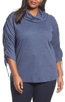Sejour Plus Size Women's Drawstring Sleeve Tunic