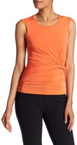 Halston Sleeveless Side Ruched Blouse