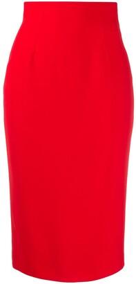 Alexander McQueen Rear Vent Pencil Skirt