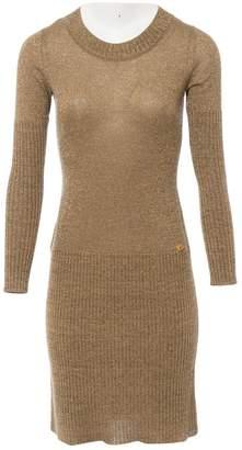 Chanel Gold Wool Dresses
