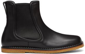 Loewe Black Ribbed Chelsea Boots