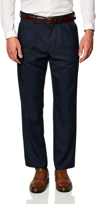 Amazon Essentials Expandable Waist Classic-Fit Pleated Dress Pants