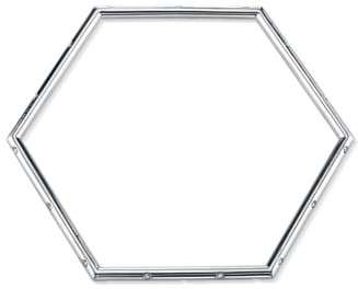 Sheryl Lowe Scatter Pave Diamond Hexagon Bangle