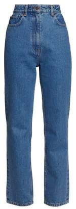 The Row Charlee High Rise Straight Leg Jeans - Womens - Blue