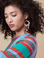 Diane von Furstenberg Hammered Gold and Stone Earrings