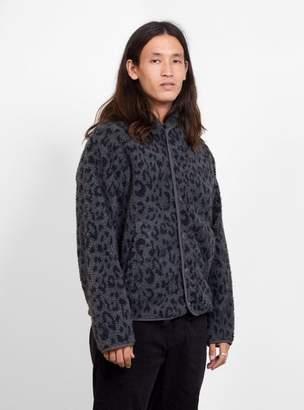 Leopard Print Beach Jacket Charcoal Grey