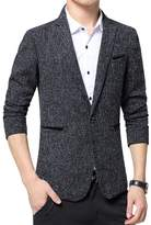Benibos Mens Premium Casual One Button Blazer Slim Fit Coat Jacket (L, )