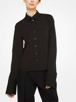 Michael Kors French Cuff Stretch Cotton-Poplin Shirt